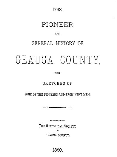 Pioneer And General History Of Geauga